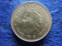 NETHERLANDS 10 GULDEN 1970, KM195 - [ 3] 1815-… : Royaume Des Pays-Bas