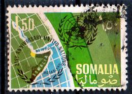 PIA - SOMALIA - 1966: 21° Anniversario Dell' ONU - Emblema E Carta Della Somalia  - (Yv  54) - Somalia (1960-...)
