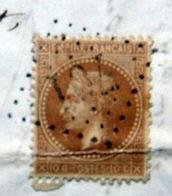 LOSANGE GROS CHIFFRE 701 CALLAS VAR 1869 SUR CERES  3 SCAN - Marcophilie (Lettres)