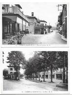 64- 2 CPA CAMBO-LES-BAINS - ROUTE DE LA GARE ET PLACE - Cambo-les-Bains