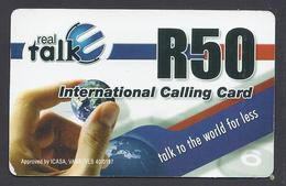International Calling Card - Real Talk - Rand 50 - South Africa - Used - South Africa