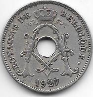 Belguim 10 Centimes 1927 French   Vf - 1909-1934: Albert I
