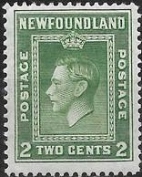 NEWFOUNDLAND 1938 King George VI - 2c - Green MH - 1908-1947