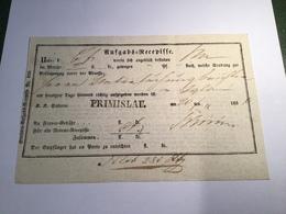 """Österreich """"PRIMISLAU""""1856 (Böhmen Tschechien)  Postschein (Brief Cover Czechoslovakia Austria - 1850-1918 Imperium"""