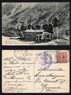 INTESA CORDIALE ITALO FRANCESE PICCOLO S.BERNARDO1913 VIAGGIATA  TIMBRI (7/49) - Humoristiques