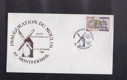 """ENVELOPPE , Exposition """" INAUGURATION DU MOULIN DE MONTFERMEIL""""  Seine Saint Denis - Autres Collections"""