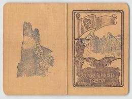 """0879 """"TORINO - SQUADRA ALPINISTI TABOR - TESSERA RICONOSCIMENTO SOCIO DEL 1933""""  ORIGINALE - Winter Sports"""