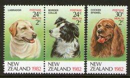 NEW ZEALAND, 1982 HEALTH /DOGS 3 MNH - Nuova Zelanda
