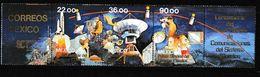 Mexique. Mexico. 1985. Navette. Satellites . Bande De Cinq Timbres - Espace