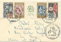 LETTRE 1964 AVEC BANDE PHILATEC - Marcophilie (Lettres)
