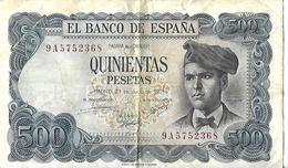 BILLET ESPAGNE 500 Escudos 23 Juillet 1971 - Espagne