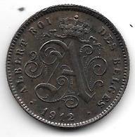 Belguim 2 Centimes 1912 French  Xf - 1909-1934: Albert I