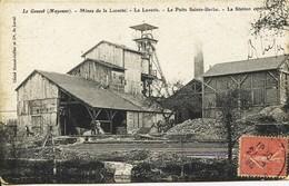 12290 - Mayenne - LE GENEST :  Mines De La Lucette - Laverie - Puit Ste Barbe - Station Centrale  Circulée En 1908 - Frankrijk