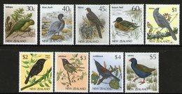 NEW ZEALAND, 1983 BIRD DEFINS TO $5,  9 MNH - New Zealand