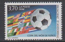 Andorra Fr. 1994 World Cup Footballl 1v ** Mnh (42041) - Frans-Andorra