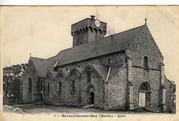 50 -  BARNEVILLE-sur-MER - Eglise - - Barneville