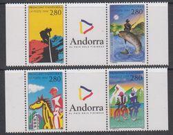 Andorra Fr. 1994 Sport 2x2v+label  ** Mnh (42041B) - Frans-Andorra
