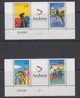 Andorra Fr. 1994 Sport 2x2v+label  (sheet Number In Margin) ** Mnh (42041C) - Frans-Andorra