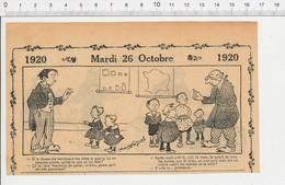 2 Scans Humour De 1920 Dieu Et La Création Professeur D'école élève Cancre Calcul Mental Carte Géographie France 216E5 - Vieux Papiers