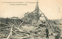 51* TOURS SUR MARNE Crues 1910    MA86,1238 - France