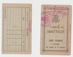 Battice ( Herve ) Carte D'identité Au Nom De Pluymackers Ou Pluijmackers Né à Noorbeck - Cartes