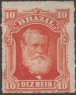 BRAZIL - 1878 10r Dom Pedro. Scott 68. Mint * - Ongebruikt