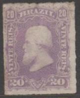 BRAZIL - 1878 20r Dom Pedro. Scott 69. Mint * - Ongebruikt