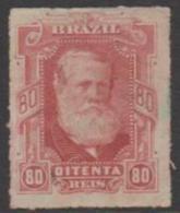 BRAZIL - 1878 80r Dom Pedro. Scott 71. Mint * - Ongebruikt