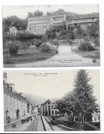 65 -2 CPA -  ARGELES-GAZOST - Hotel De France Et Rue De Vieuzac - Argeles Gazost