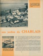1960 : Document, LE CHABLAIS, Thonon, Châtel, Yvoire, Mirador Des Allinges, Morzine, Abondance, Bateaux à Aubes... - Non Classés
