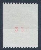 France - Marianne De Luquet 2,70 Vert Type I (roulette + N° Rouge 335) YT 3100a Obl - 1997-04 Marianne Du 14 Juillet