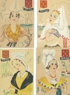Illustrateur DYL - 4 Cartes Poitou - Autres Illustrateurs