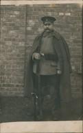 Soldaten-Porträt 1.WK Mit Gewehr, Bahnpost: Halle-Kassel 1916 Privatfoto - Personen
