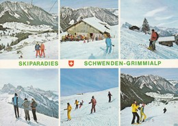 Schwenden-Grimmialp, Skiparadies, 6 Ansichten - BE Berne