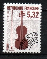 "PREOBLITERE: 5,32F ""Les Instruments De Muique: Violon"" N° Preo 223** - 1989-...."