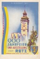 AK - NÖ - Retz - 900 Jahrfeier 1951 - Sonderstempel - Hollabrunn