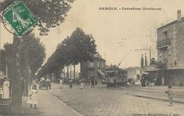 Cpa Gargan, Carrefour Monthyon, Tramway, Animée - Livry Gargan