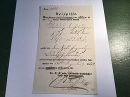 Österreich ZEITUNGSAMT BRÜNN 1840 (Böhmen Mähren Tschechien) Seltene Recepisse (Brief Cover Austria Czechoslovakia - Österreich