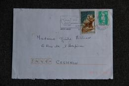 Timbres Sur Enveloppe D'ANGERS Vers CESSENON Le 6 Avril 1996 - France