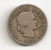 Suisse. 5 Rappen 1880 + 1/2 Franc Argent 1907 - Switzerland