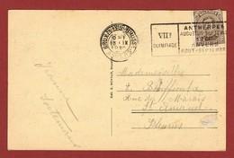 Postkaart Met  Sloganstempel Antwerpen 7e Olympiade 1920 - Ete 1920: Anvers