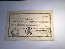 Österreich PRAG ZEITUNGS COMPTOIR 1850 (Böhmen Mähren Tschechien) RR!  Recepisse (fiscal Fiskal Austria Czechoslovakia - Österreich