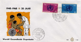 SURINAME - FDC 1968  -  ORGANIZZAZIONE MONDIALE SANITA' - Suriname