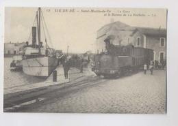 Île De Ré - Saint Martin De Ré - La Gare - Locomotive - Animée - Reproduction - Ile De Ré