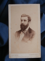 CDV Photo Henry Knight In St Leonard On Sea - Portrait Homme Barbu Circa 1875-80 L430 - Photographs