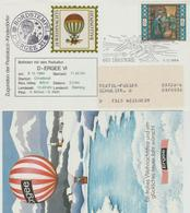 Austria - 1984 - Christmas Stamp On Baloon Post Cover - Montgolfières