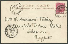 Egypt 1901. Postmarks Helouan And Cairo On PPC From Cape Of Good Hope. - 1866-1914 Khedivato Di Egitto