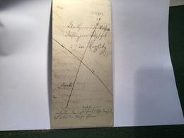 """Österreich """"AUSCHA"""" 1850 (Úštěk Böhmen Mähren Tschechien) Brief   (Coffee Brief Cover Fiscal Fiskal Czechoslovakia - Österreich"""
