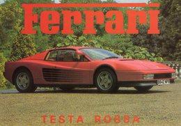 Ferrari Testarossa  -  Carte Postale - Turismo