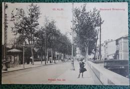 Cpa - 65 - Albi - Boulevard Strasbourg (phototypie Poux Albi) - Albi